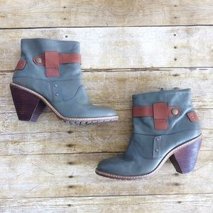 Anthropologie Lucky Penny Brass and Band Booties
